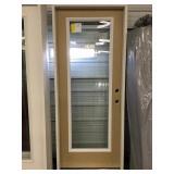 32in x 80in etched 15lite LH fiberglass door
