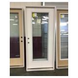 36in x 80in RH Etched 15 lite fiberglass door