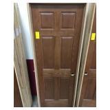 """28"""" LH Interior Prefinished Oak Door"""