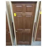 """30"""" RH Interior Prefinished Oak Door"""