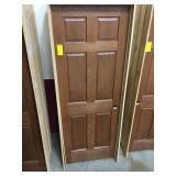 """30"""" LH Interior Prefinished Oak Door"""