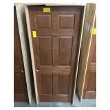 "32"" RH Interior Prefinished Oak Door. DAMAGED"