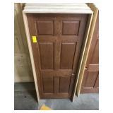 """32"""" LH Interior Prefinished Oak Door"""