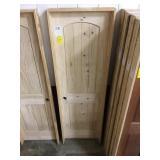 """24"""" RH Interior Arch Top Pine Door"""