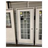 36in x 80in LH fiberglass 15 lite full view door