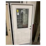 36in x 80in LH fiberglass 1/2 view door
