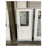 36in x 80in RH fiberglass 1/2 view door