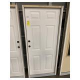 32in x 74in RH steel 6 panel door