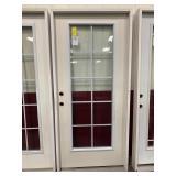 36in x 80in RH fiberglass full view door