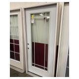 36in x 80 RH steel full view door