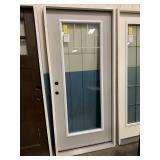 36in x 80in LH steel full view door