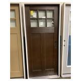 36in x 80in LH craftsman style fiberglass door
