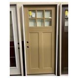 36in x 80in craftsman style RH fiberglass door.