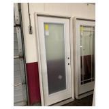 32in x 80in fiberglass LH full view door damage