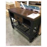 Industrial Metal & Wood Workbench DISPLAY
