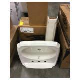 American Standard Pedestal Sink & Base DISPLAY