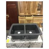 """9"""" Franke Double Bowl Composite Sink DISPLAY"""