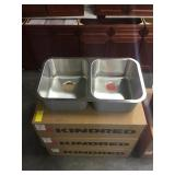 """9"""" Kindred Double Bowl SS Kitchen Sink DISPLAY"""