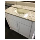 36in bathroom vanity with speckled top