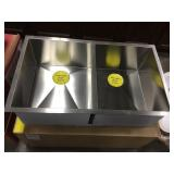 """10"""" Double Bowl Square SS Kitchen Sink"""