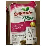 Osmocote + indoor outdoor plant food 8lb bags x 2