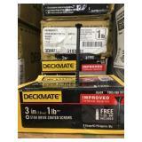 Case of Deckmate 3in screws x 3