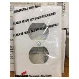 Box White Mid Size Wall Plate x 2