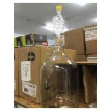 Single gallon glass fermenting jug with handle x4