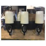 Three Light Huntley Vanity Strip