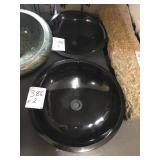 Black vessel sink x 2