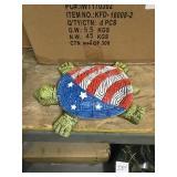 Patriotic Turtle Garden Stones x 6