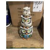 Owl statues x6
