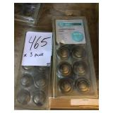 """1-3/8"""" Accent Knobs Heirloom Silver x3"""