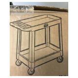 2 shelf Rubbermaid Heavy duty utility cart