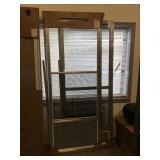 32in x 80in storm & screen doors 2 for one money