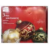 3 pc jumbo ornaments set x 2