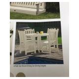 Outdoor dining chair x4 chairs ONLY