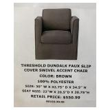 Swivel Accent Chair x2