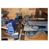 Lathe, scroll & table saws