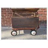 Old storage box & red wagon