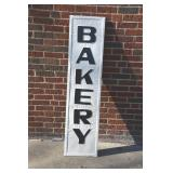 """Painted tin """"Bakery"""" sign"""