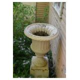 Cast Iron urn on stand