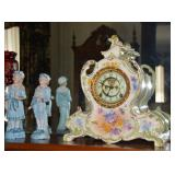 Royal Bonn china Ansonia clock
