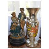 Figurines & mercury vase