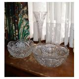 Hawkes bowl & other crystal