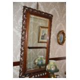 Entry mirror, oil lamp