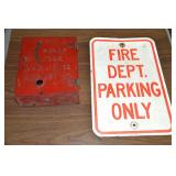 Fire call box & sign