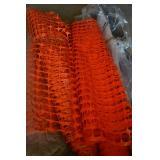 Rolls of vinyl fencing