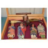Skookum dolls, powder horns