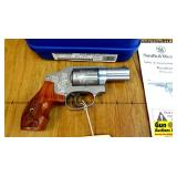 S&W 640-1 ENGRAVED .357 MAGNUM Revolver. NEW in Bo